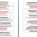 HORARIOS ACTOS y FESTEJOS 2014