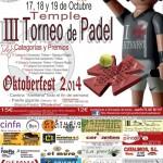 III TemplePadel y Oktoberfest 2014